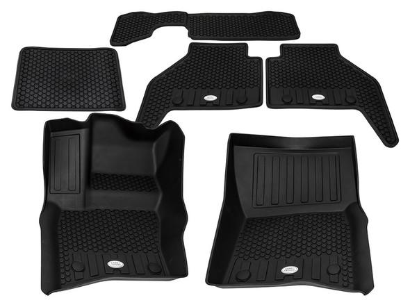 Land Rover NEW Defender Front & Rear Deep Sided Set Black LHD - VPLES0553LR