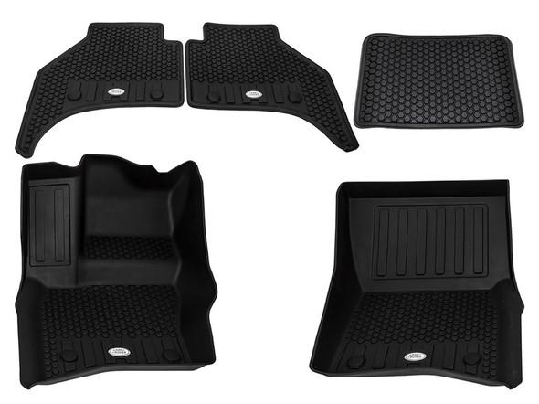 Land Rover NEW Defender Front & Rear Deep Sided Set Black LHD - VPLES0552LR
