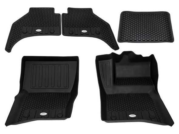 Land Rover NEW Defender Front & Rear Deep Sided Set Black RHD - VPLES0550LR