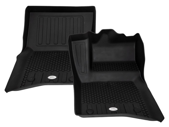 NEW Defender Front & Rear Deep Sided Set Black RHD - VPLES0550LR