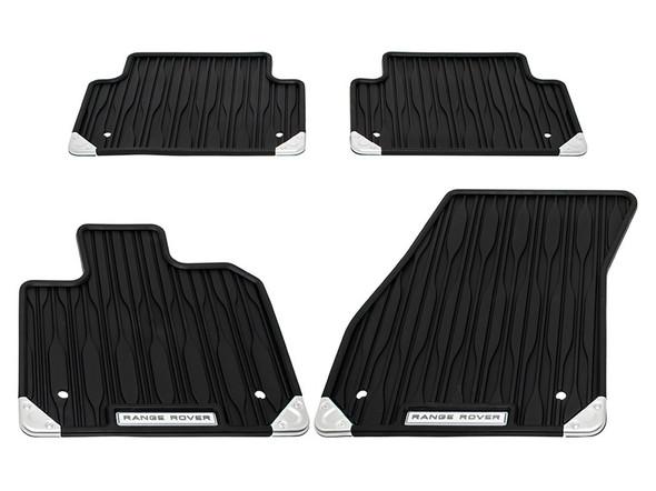 Land Rover Range Rover Evoque Front & Rear Rubber Floor Mat Set Black RHD - VPLZS0580LR
