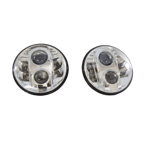 Land Rover Defender LED Headlamp Light Pair RHD - BA070LED
