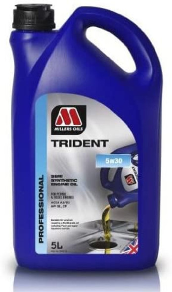 JGS4x4   Millers Trident 5W30 Semi Synthetic Engine Oil 5 Litre - 5995GO
