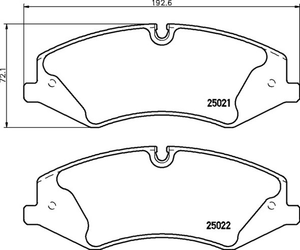 Land Rover Discovery 5 L462 2010-2016 Front Brake Pads Mintex - LR051626M