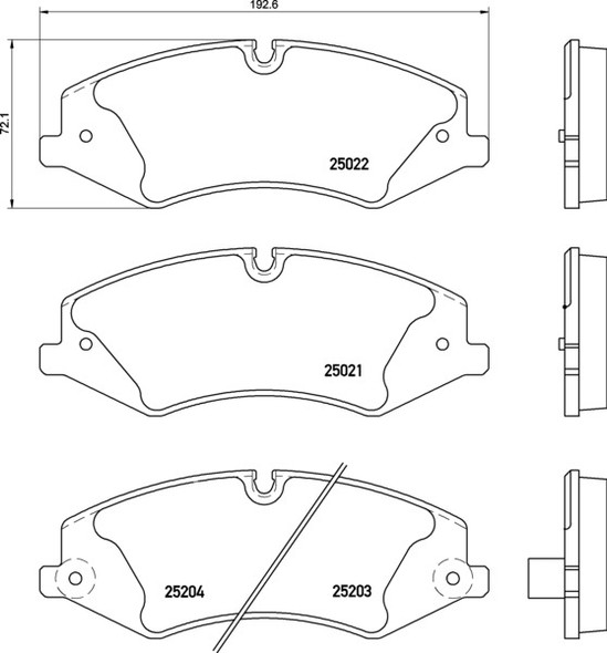 Land Rover Discovery Sport 2014 Onwards Front Brake Pads Mintex - LR072681M