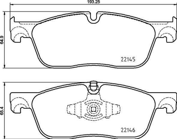 Land Rover Range Rover Classic 1990-1995 Front Brake Pads Britpart XS - SFP500180G
