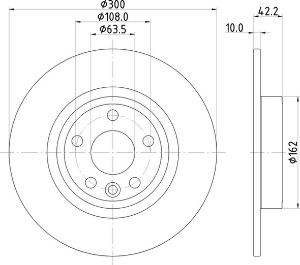 Discovery Sport L550 Rear Solid Brake Discs OEM Specification - MDC2822C