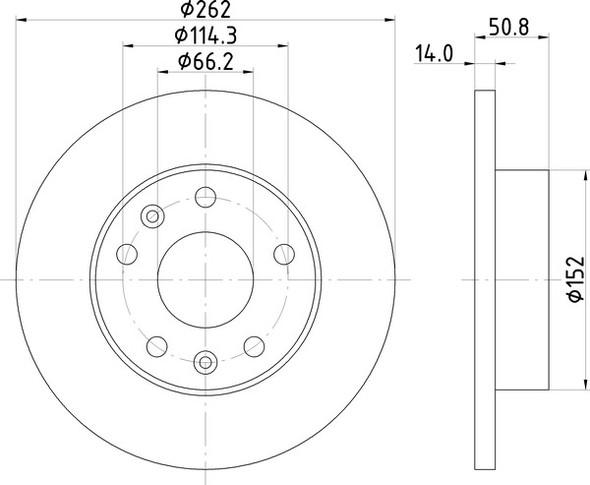 Freelander 1 L314 Front Solid Brake Discs OEM Specification - MDC1531