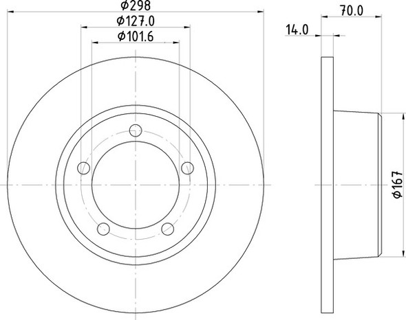 Range Rover Classic Front Solid Brake Discs OEM Specification - MDC436C