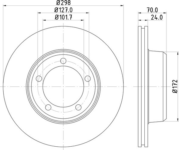 Range Rover Classic Front Vented Brake Discs OEM Specification - MDC565