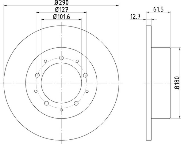 Range Rover Classic Rear Solid Brake Discs OEM Specification - MDC468C