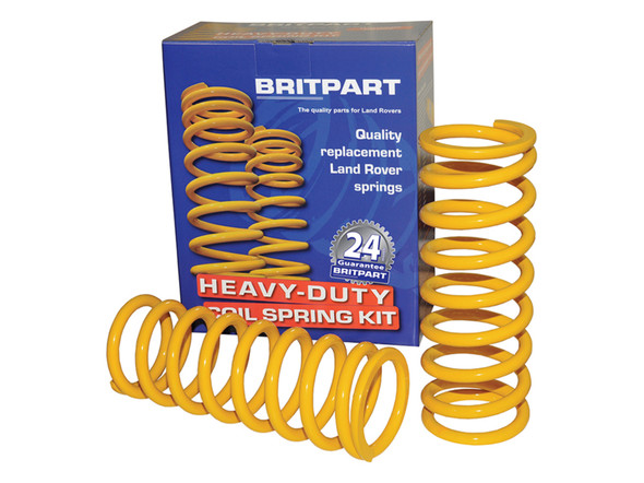 JGS4x4 | Land Rover Discovery 2 L318 Britpart Yellow Rear Coil Springs Plus 50mm Heavy Load - DA4205