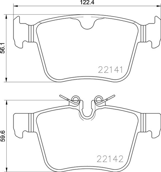 Land Rover Discovery Sport 2019> Rear Brake Pads Britpart XS - LR123595G