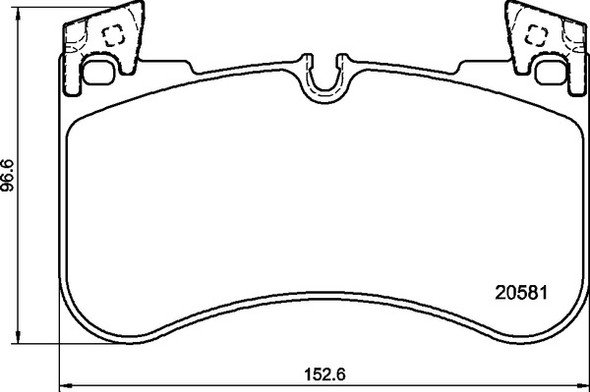 Land Rover Discovery 5 L462 2018> Front Brake Pads Britpart XS - LR110084G