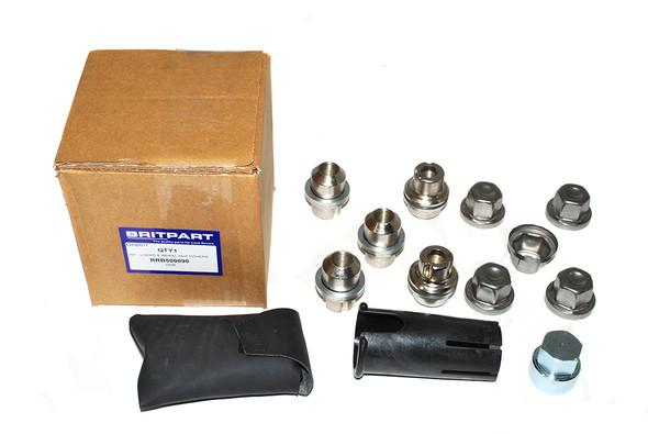 JGS4x4 | Land Rover Discovery 1 Locking Wheel Nuts & Key Kit - RRB500090