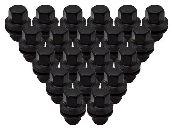 JGS4x4 | Land Rover Range Rover L405 Satin Black Alloy Wheel Nut Set Of 20 - LR068126BX