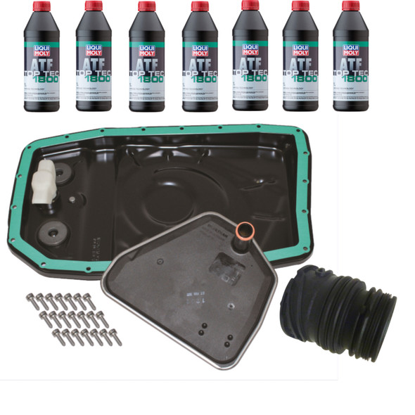 JGS4x4 | Land Rover Discovery 4 L319 Automatic Gearbox Easy Change Metal Sump Filter ATF Fluid Kit & Wiring Sleeve -