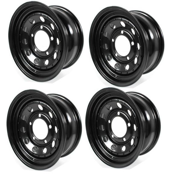 "JGS4x4 | Land Rover Discovery 1 Modular Steel Wheel Black 16""x7"" Set Of Four - GRW006"