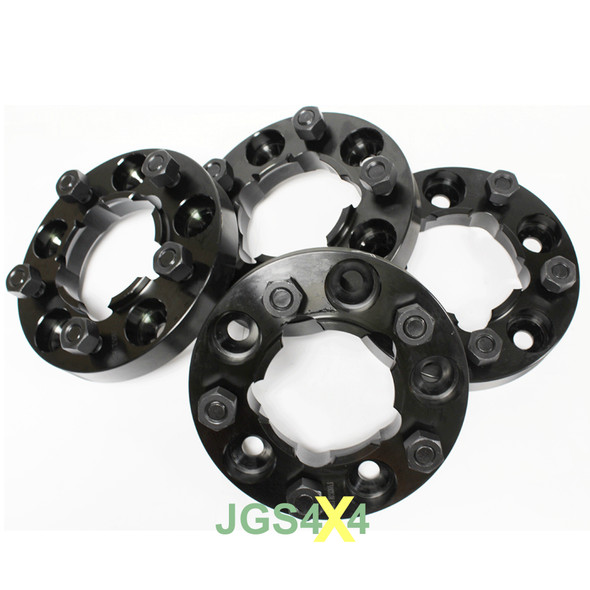 JGS4x4 | Land Rover Discovery 1 Wheel Spacers 30mm Black Alloy TERRAFIRMA - TF301B