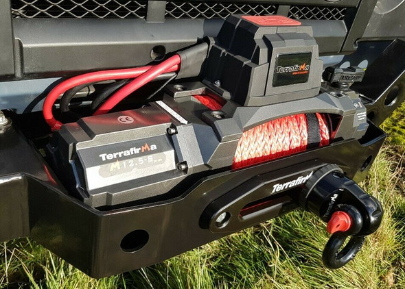 TERRAFIRMA M12.5S 12v Electric Winch Synthetic Rope & Wireless 12,500lb - TF3320