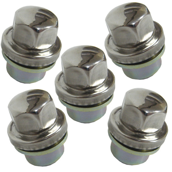 Land Rover Discovery 2 & Range Rover P38 Alloy Wheel Nut Stainless Cap x5 ANR3679
