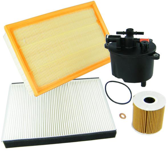 Land Rover Freelander 2, 2.2 TD4 Service Filter Kit Oil Air Fuel Pollen Filters