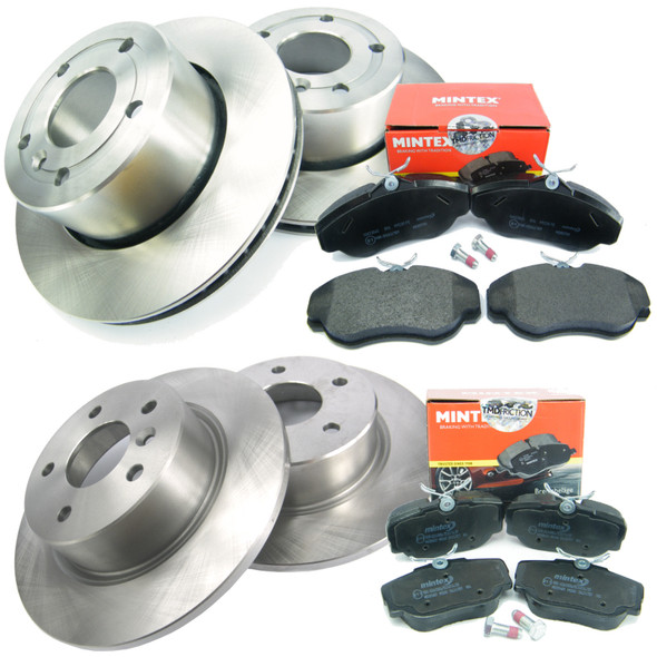 Discovery 2 Brake Kit Front & Rear Brake Discs + MINTEX Brake Pad Kit