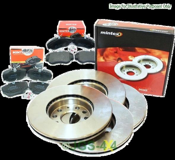 Discovery 2 Front & Rear Brake Discs & Pads Kit MINTEX