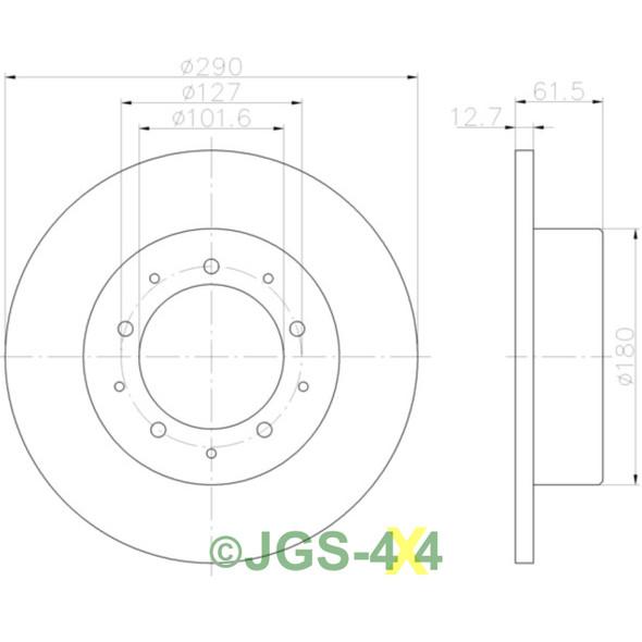 Discovery 2 Mintex Front Brake Kit Discs Pads OEM - MDC1445 MDB1701 SDB500150