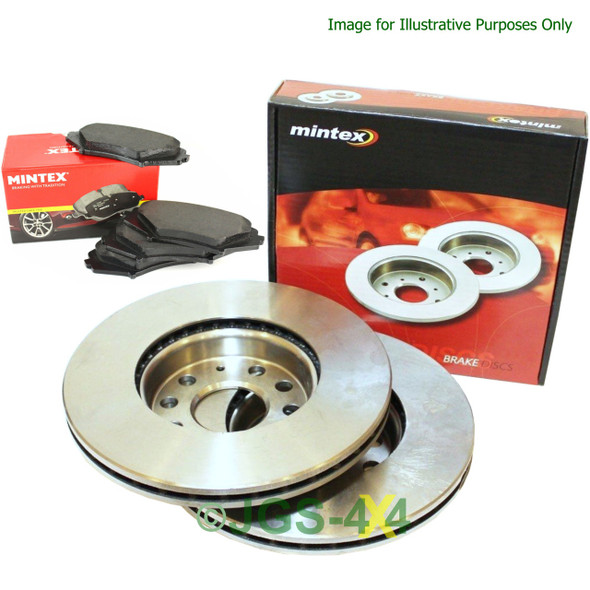 Discovery 4 Front Brake Discs & Pads Kit MINTEX