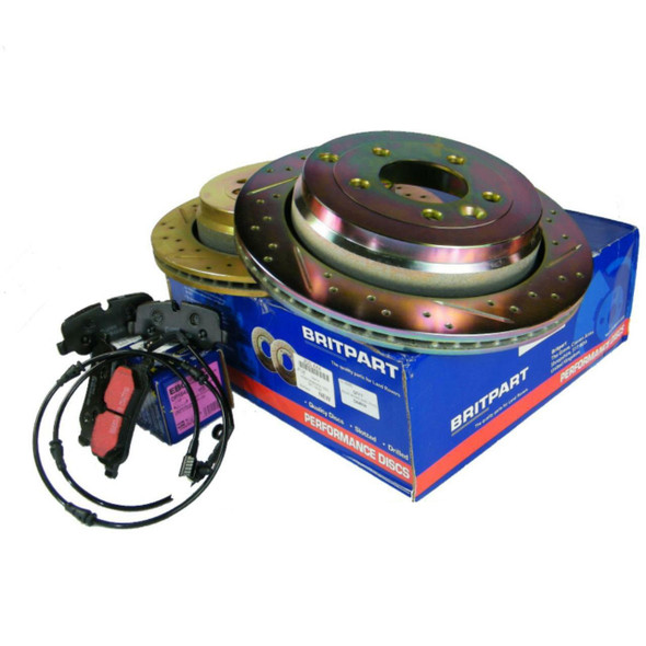 Discovery 4  Performance Front Brake Discs & EBC Pads Kit