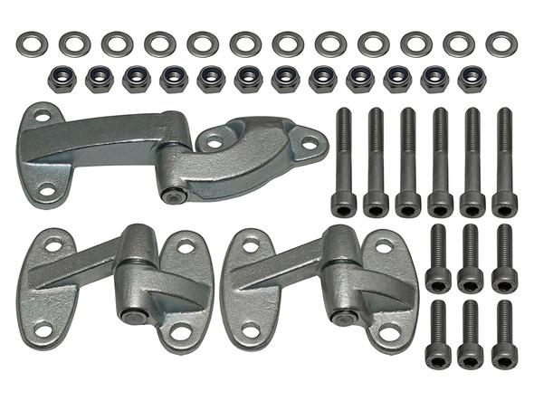 Land Rover Defender Rear End Door Hinge Kit & Stainless Steel Fittings - DA1240