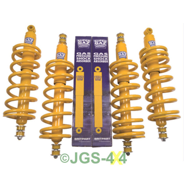 Land Rover Defender 90 Complete Suspension Kit with Coil Springs and Super Gaz Shock Absorbers - DA4286MD