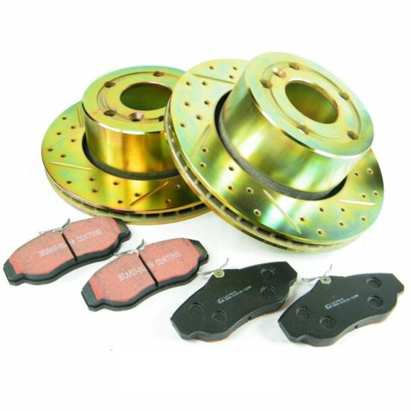 Land Rover Discovery 2 TD5 Performance Drilled Front Brake Disc & EBC Pad Kit
