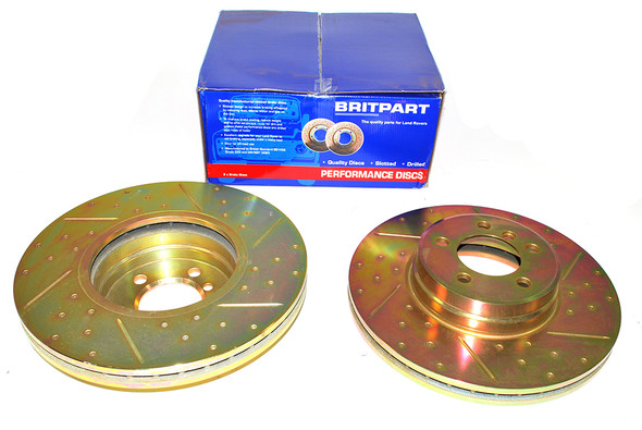 Land Rover Range Rover L322 Drilled and Grooved Performance Upgrade Front Brake Discs - DA4609