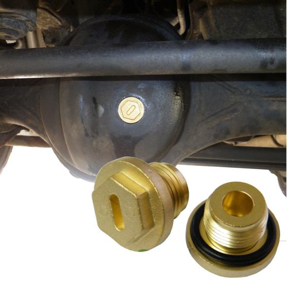 JGS4x4 | Land Rover Discovery 2 Heavy-Duty Brass Differential Filler Plugs - ERR4686B