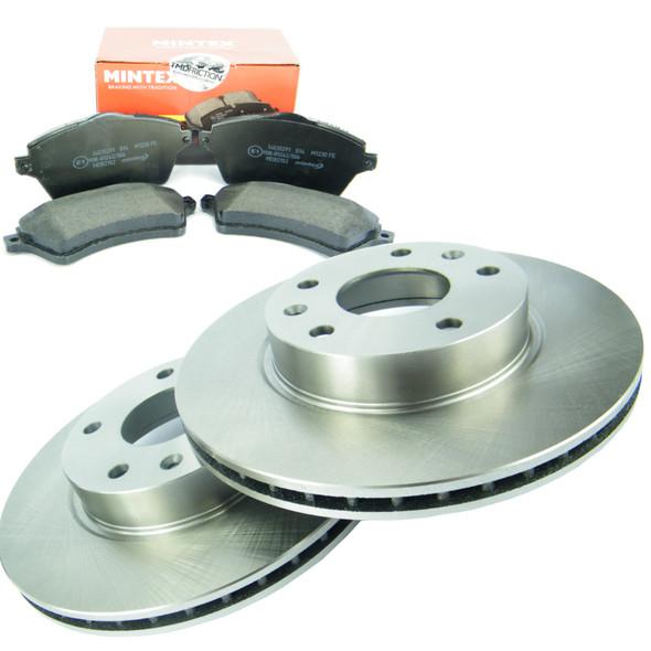 Freelander 1 TD4 Front Brake Discs Set & MINTEX Front Brake Pad Kit Vented