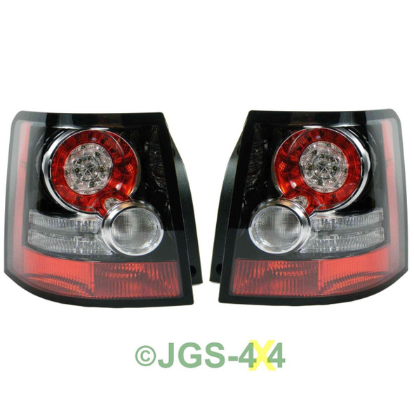 Land Rover Range Rover Sport Rear LED Tail Light Lamps OEM Upgrade Black Inserts