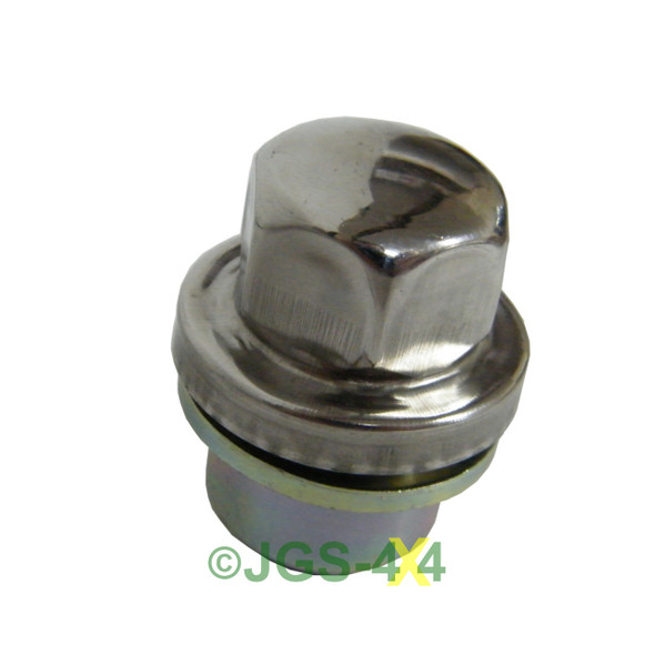 Discovery & Defender Alloy Wheel Nut Stainless Steel Capped x16