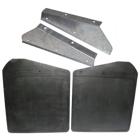 JGS4x4 | Land Rover Defender Front Mud Flaps With Galvanised Brackets -