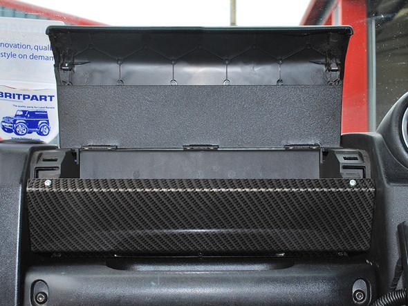JGS4x4   Land Rover Defender Puma Glove Box Kit Carbon Fibre - DA2603CF