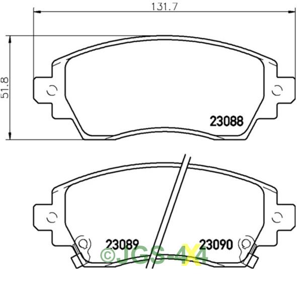 Discovery 3 & 4 Rear Brake Disc & Pad Kit MINTEX
