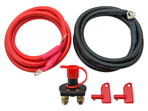 JGS4x4   Land Rover Defender Extended Winch Wiring Kit & Isolator Switch - DB1014
