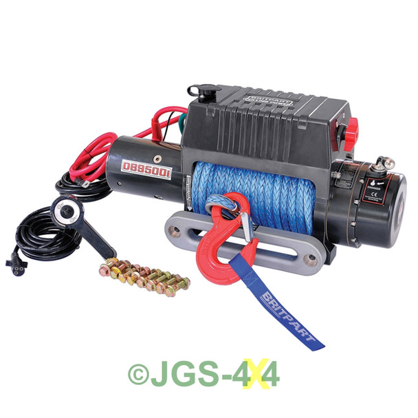 12V Pulling Power Electric Winch 9,500lbs with Dyneema Synthetic Rope - DB9500iR