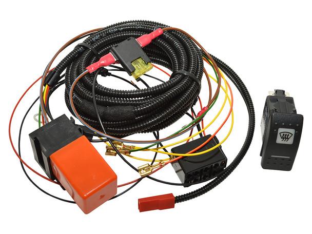 JGS4x4 | Land Rover Defender Heated Windscreen Wiring Kit Carling Switch - DA1400