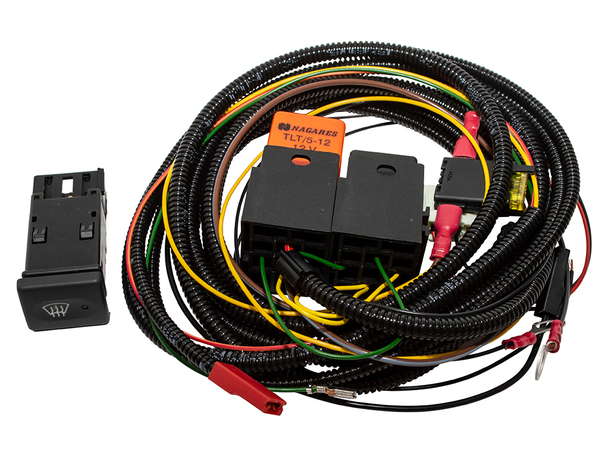 JGS4x4 | Land Rover Defender Heated Windscreen Wiring Kit OEM Switch - DA1401