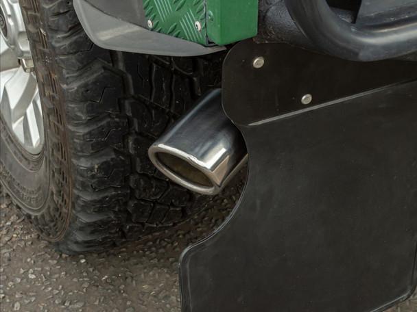 JGS4x4 | Land Rover Defender 90 Big Bore 3 Inch Straight Through Exhaust Tailpipe - GA568