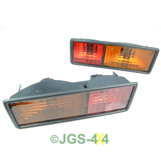 Land Rover Discovery 1 Rear Bumper Light Lamps Pair - AMR6509 / AMR6510