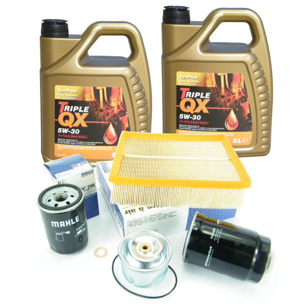 JGS4x4 | Land Rover Discovery 2 Td5 Engine Service Kit MAHLE OEM Filters With 5W30 Oil -