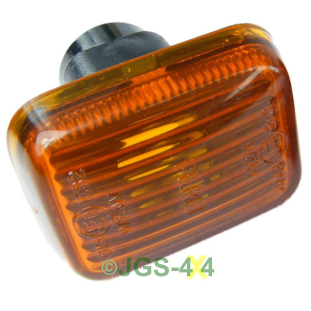 Land Rover Defender Side Indicator Repeater Lamp Amber Square - PRC9916